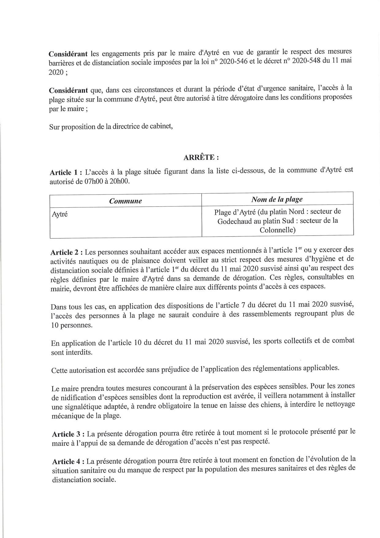 P017-20200519-Derogation ouverture plage-Aytre - page 2